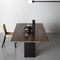 Tavolo design originale / in metallo / in legno massiccio / in laminato HOLE by Kensaku Oshiro Kristalia