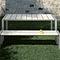 panca da giardino / moderna / in alluminio / in laminato