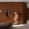 Specchio a muro / moderno / ovale / in legno massiccio LOOP by Front Porro