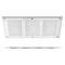 soffione doccia da incasso a soffitto / rettangolare / con cromoterapia / con illuminazione incorporata