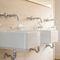 miscelatore doppio comando per lavabo / da parete / in metallo cromato / da bagno