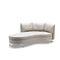 divano modulare / a semicerchio / moderno / in pelle