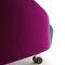 Poltrona moderna / in tessuto / con rotelle / di Joe Colombo CART by Joe Colombo Ditre Italia