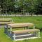 tavolo da picnic moderno / in pino / in frassino / in acciaio galvanizzato