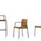 sedia moderna / imbottita / con braccioli / impilabile