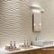 Piastrella da parete / in gres porcellanato / motivi geometrici / liscia 3D WALL DESIGN : DUNE WHITE & SAND Atlas Concorde