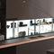 scaffale moderno / in vetro / per cucina / illuminatoAIR LOGICA SYSTEMVALCUCINE