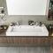 bagno moderno / in noce / in laminato / su misura
