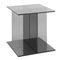 tavolo d'appoggio moderno / in vetro / quadrato / per edifici pubblici