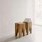 tavolo d'appoggio moderno / in quercia / in noce / in legno massiccio