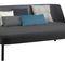 divano moderno / in pelle / in quercia / in noce