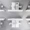 scaffale modulare / moderno / in laminato / per ufficio