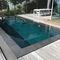 piscina seminterrata / in legno / in pietra / in acciaio inox