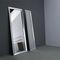 specchio a muro / moderno / rettangolare / in alluminio
