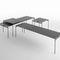 tavolino basso moderno / in metallo / in ceramica / rettangolare