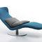 chaise longue moderna / in tessuto / in acciaio / pieghevole
