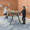 tavolo alto moderno / in legno / rettangolare / contract
