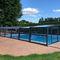 copertura per piscina a mezza altezza / telescopica / in alluminio / in policarbonato