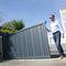 cancello scorrevole / in alluminio / a lamelle / per uso residenziale