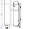 portacenere a muro / in acciaio / in acciaio galvanizzato / per esterni