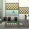 divisorio per ufficio a pavimento / con fissaggio a soffitto / in metacrilato / modulare