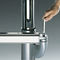 scrivania in acciaio inox / moderna / contract / ad altezza regolabile