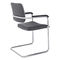 Sedia visitatore moderna / in acciaio / impilabile / imbottita SKID by Andreas Ostwald BRUNE Sitzmöbel GmbH