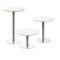 tavolo da bistrot moderno / in acciaio cromato / in metallo cromato / tondo