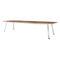 tavolo da conferenza moderno / in legno / in acciaio / rettangolare