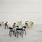 Sedia da ristorante moderna / imbottita / in compensato stampato / in pelle 404 by Stefan Diez THONET
