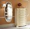 cassettiera classica / in legno / bianca
