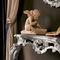 consolle in stile / in legno / con specchio