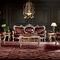 divano in stile / in tessuto / 3 posti / marrone