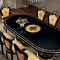 tavolo da pranzo in stile / in legno / ovale / allungabile