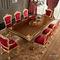 tavolo da pranzo in stile / in legno / rettangolare / allungabile
