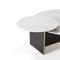 Tavolino basso moderno / in MDF laccato / in marmo / rotondo ANT KENDO MOBILIARIO