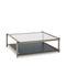 Tavolino basso moderno / in legno massiccio / in MDF laccato / in cristallo NUC by Francesc Rifé KENDO MOBILIARIO