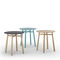 Tavolo d'appoggio moderno / in legno massiccio / in MDF laccato / rotondo TAB by Discoh KENDO MOBILIARIO
