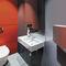 asciugamani elettrico con aria pulsata / da parete / in policarbonato