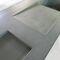 lavello a 2 vasche / in calcestruzzo HUP Ductal© / con gocciolatoio
