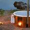 vasca per bagni caldi all'aperto in legno / contract