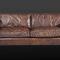 divano moderno / in pelle / marrone