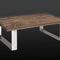 tavolino basso moderno / in legno / in acciaio / rettangolare