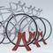 rastrelliera per biciclette in acciaio / per spazi pubblici