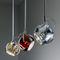 lampada a sospensione / moderna / in metallo / in cristallo