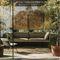 divano moderno / da giardino / in alluminio / in tessuto