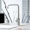 miscelatore in acciaio inox / da cucina / 1 foro / a becco orientabile