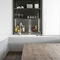 cucina moderna / in legno / a U / senza maniglie