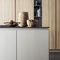 cucina moderna / in pietra / con isola / modulare