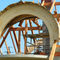 trave in legno lamellare / a sezione rettangolare / ad arco / per abbaino